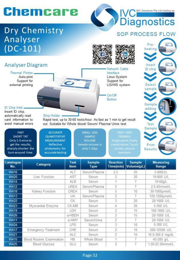 ChemCare Dry Chemistry Analyser_Spec sheet