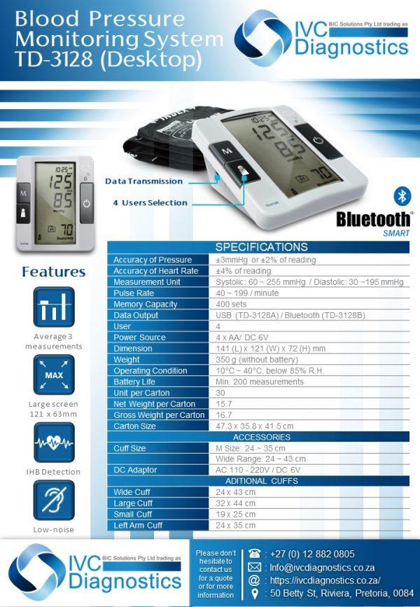 Desktop Blood Pressure (TD-3128)_Spec sheet