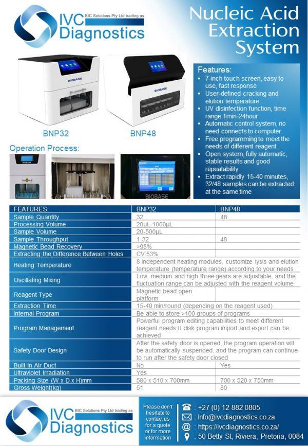 IVC Diagnostics_Nucleic Acid Extraction System_Spec sheet