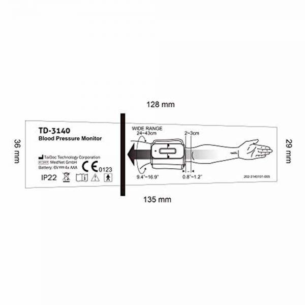 IVC Diagnostics_Upper Arm Blood Pressure Monitor TD-3140(8)