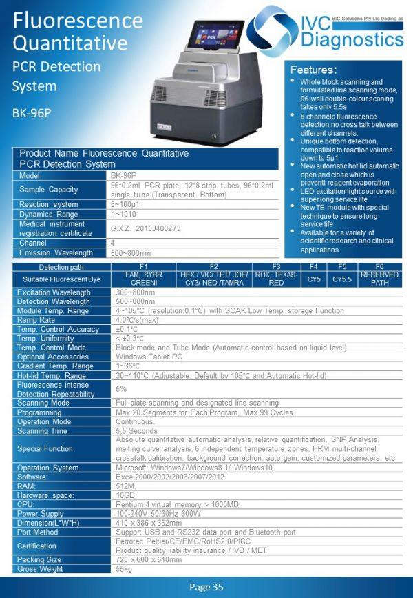 IVC_Diagnostics_Fluorescence Quantitive PCR Detection_Spec Sheet