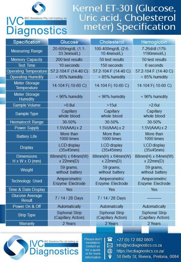A1C EZ 2.0 Analyser_Spec sheet