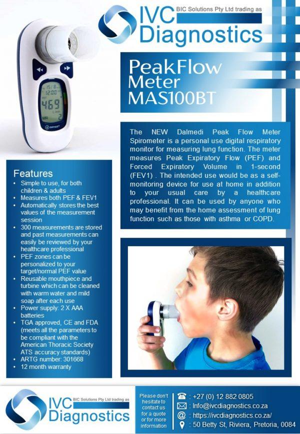 Peakflow Meter MSA100BT_Spec sheet
