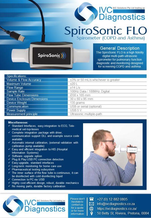 SpiroSonic FLO_Spec sheet