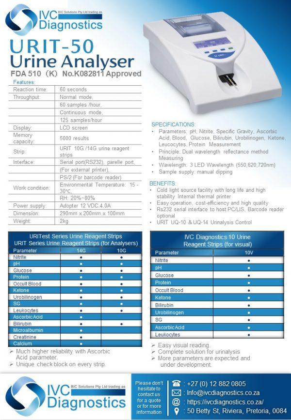 URIT 50 Urin Analyser_Spec sheet